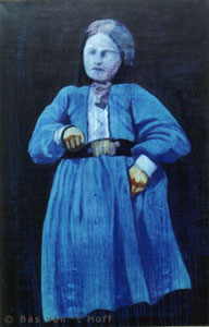1994, Meisje in turkoois (Girl in turquoise), Oil on Canvas, 80 x 120