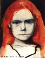 1996, Meisje met rood haar (Girl with red hair), Oil on canvas, 30 x 40