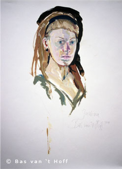 2010, Model Justina, Oil on Paper, 50 x 60